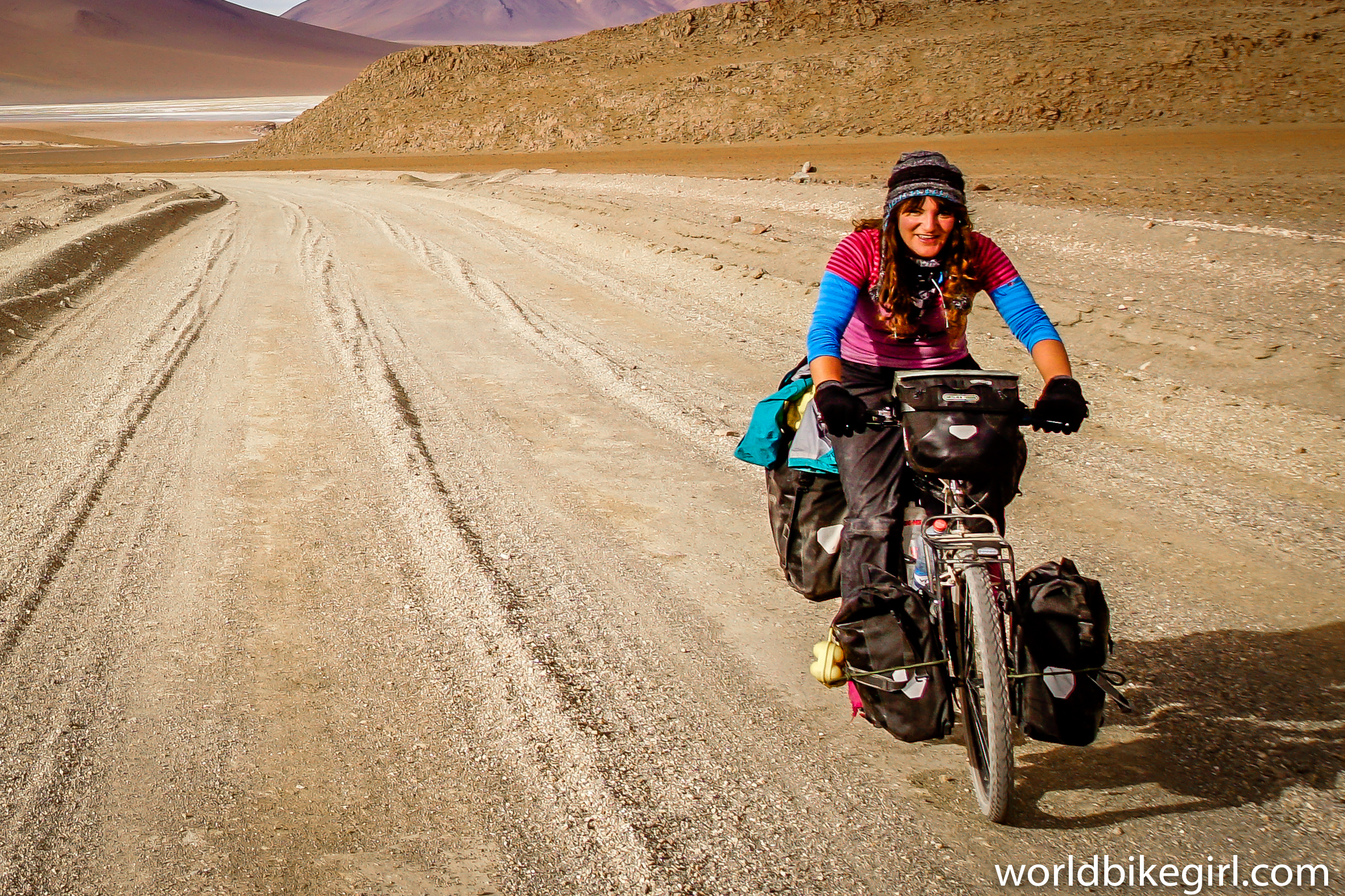Photo of me cycling in Bolivia.