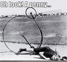 Rider falling of Penny Farling