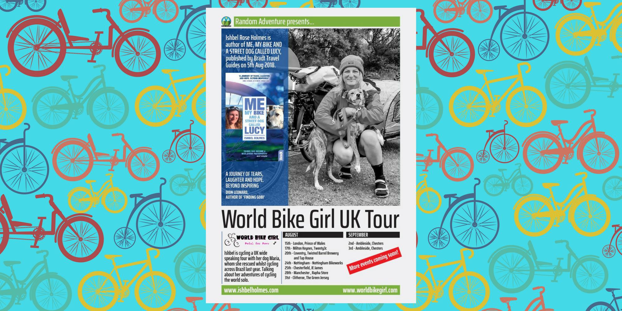 The World Bike Girl Book & Speaking Tour UK 2018